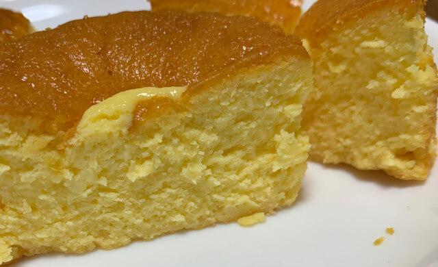 セブンのバスクチーズケーキ断面