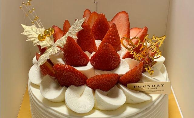 きらぴ香いちごのクリスマスケーキ